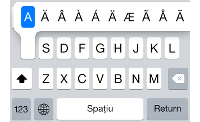 Tastatura de la Apple iPhone 5s cu iOS 7