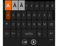 Tastatura de la Nokia Lumia 630 cu Windows Phone 8.1