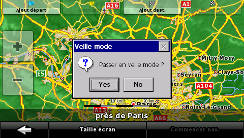 Snapshot of the standard dialog type and French translation